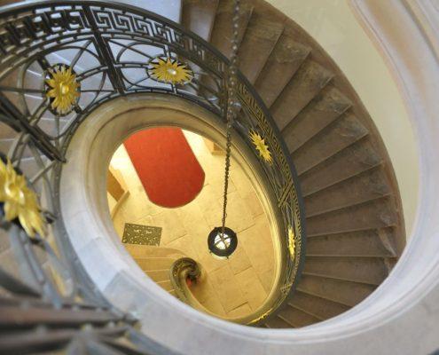 Treppenhaus in der Sprachschule