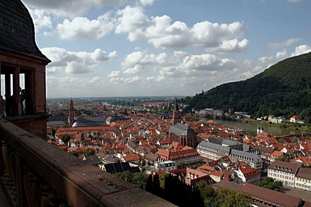 Blick auf die Heidelberger Altstadt