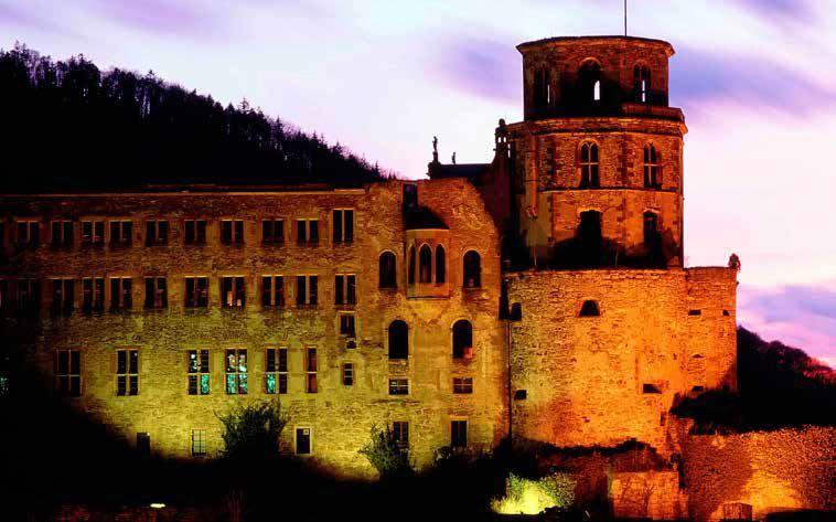 Beleuchtetes Heidelberger Schloss