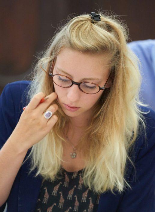 Studentin im Kurs Deutsch für den Beruf