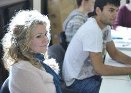 Studenten im Deutschkurs am Nachmittag