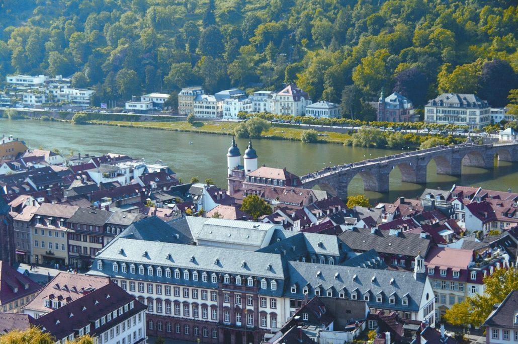 Blick auf Heidelberg von oben