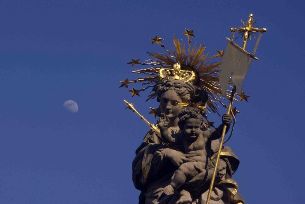 Madonna-Figur in Heidelberg