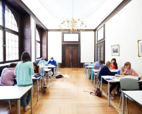Deutschunterricht in historischen Räumen