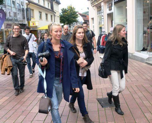 Studenten in der Altstadt