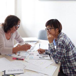 Studentin im Einzelunterricht