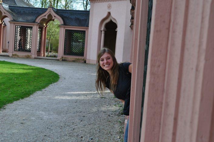 Studentin im Park