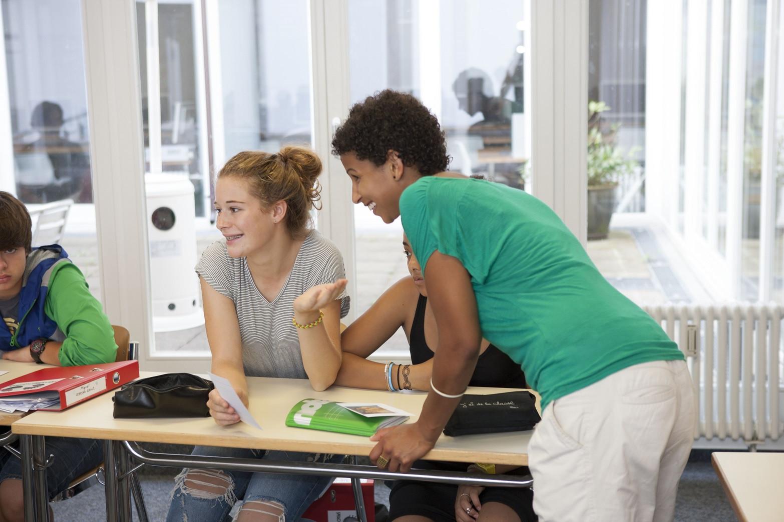 Schüler im Deutschunterricht